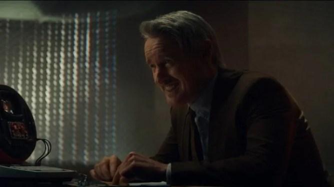 Owen Wilson laughing it up while interrogating Loki as sene in Episode 4 of LOKI on Disney+.