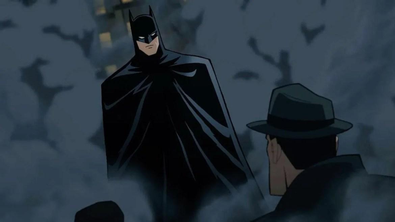 Batman rises from the smoke as seen Batman: The Long Halloween, Part 1