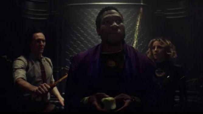 Loki and Sylvie meet Kang the Conqueror played by Jonathan Majors in the season 1 finale of LOKI on Disney+.