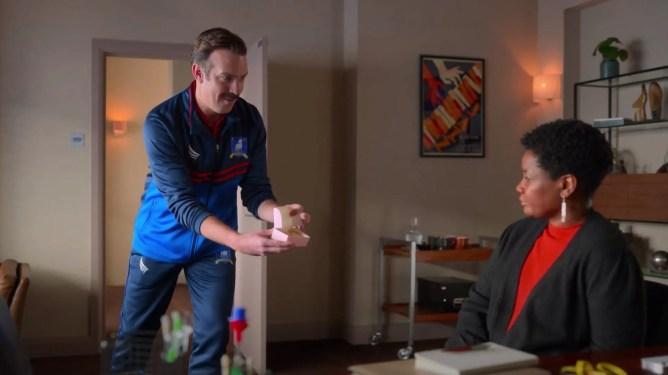 Jason Sudeikis as Ted Lasso in Ted Lasso season 2