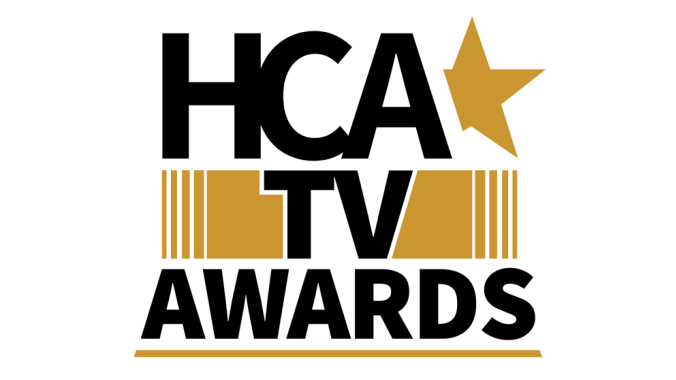 The official logo for the first annual HCA TV Awards for the 2021 awards race.