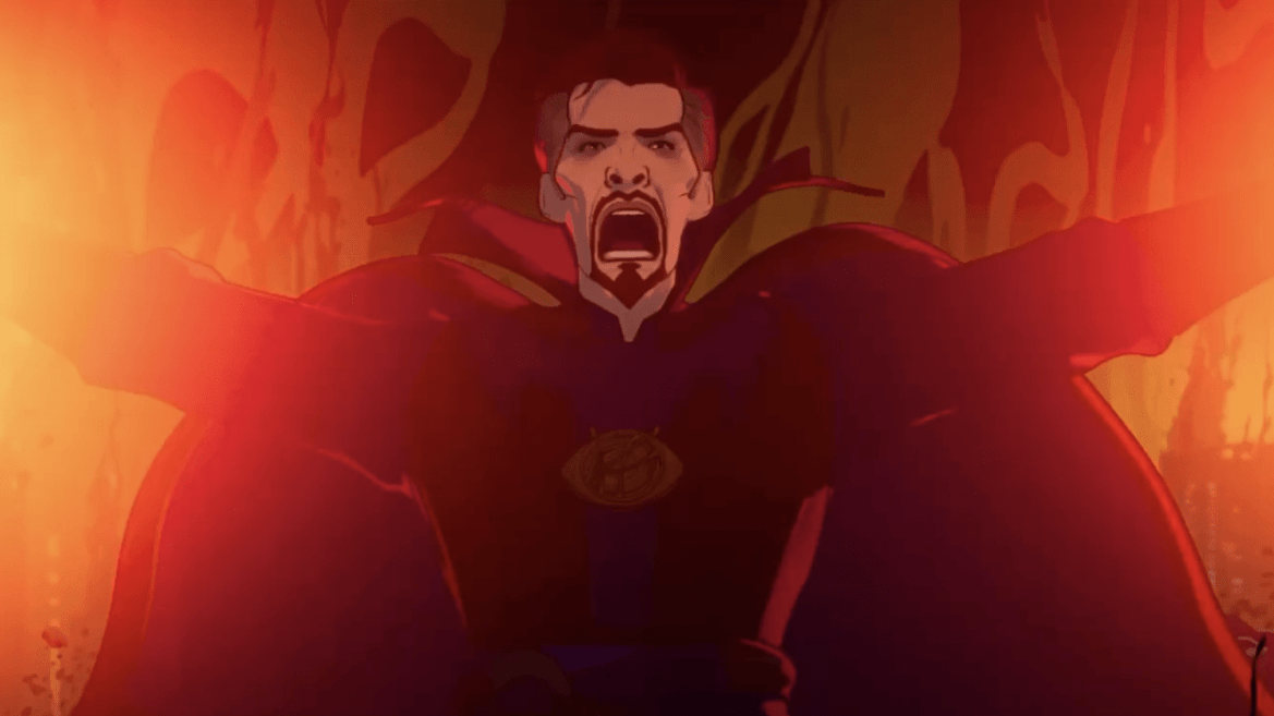 Evil Doctor Strange voiced by Benedict Cumberbatch as seen in episode 4 of WHAT IF...? on Disney+