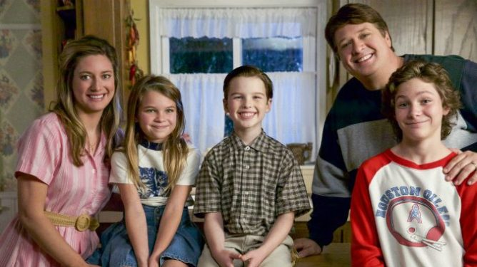 Iain Armitage as a young version of Sheldon from Big Bang Theory in the hit show Young Sheldon