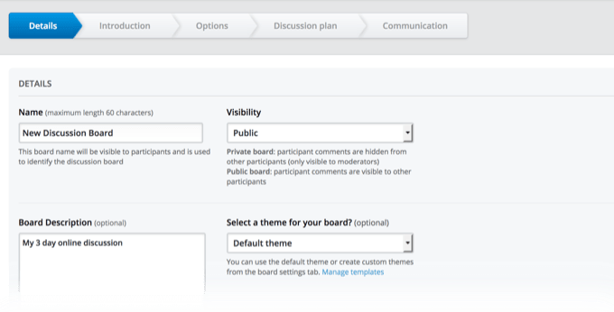 Online Discussion Board Insights Wizard