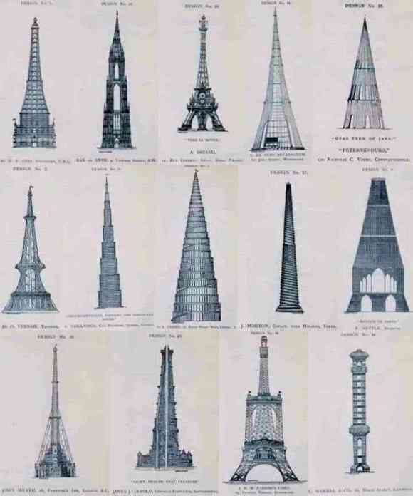 Rejected designs for the Eiffel Tower #art #travel #paris #france #history