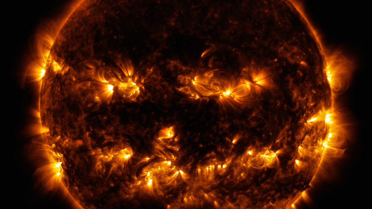 Nasa unveils Pumpkin sun just in time for Halloween