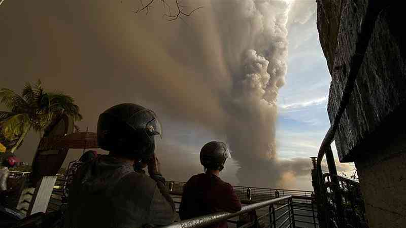 The Taal volcano erupts in Philippine capital, showering Manila with ash and lava