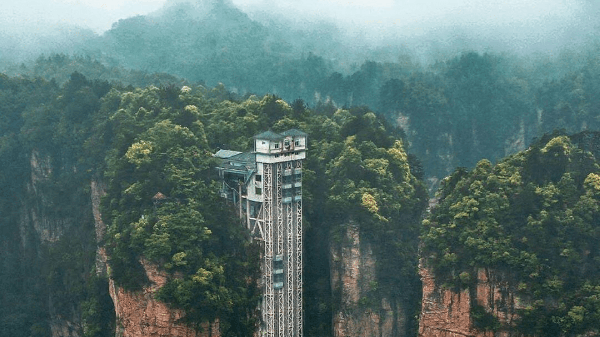 Zhangjiajie's Bailong Elevator is the highest outdoor elevator in the world