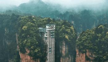 Zhangjiajie's Bailong Elevator is the highest outdoor elevator in the world