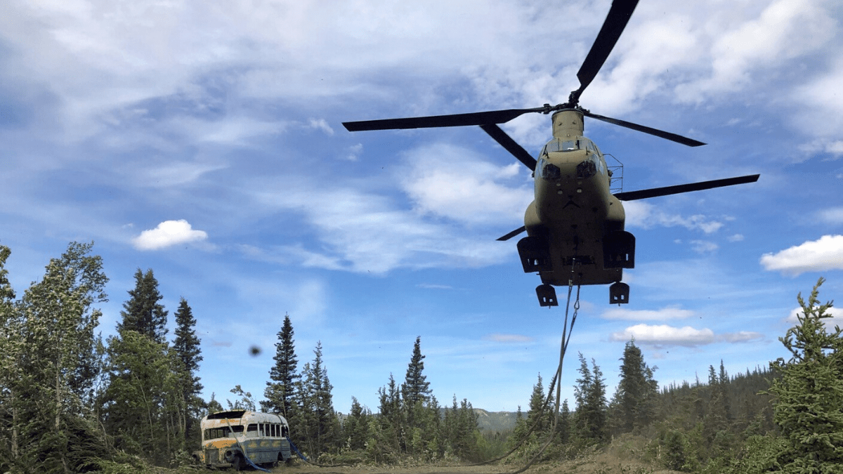 Abandoned 'Into the Wild' Bus Hoisted From Alaskan Wilderness