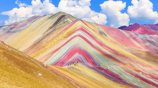 The Rainbow Mountain in Peru