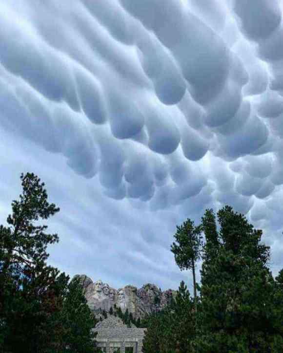 Witness the strange but beautiful mammatus clouds