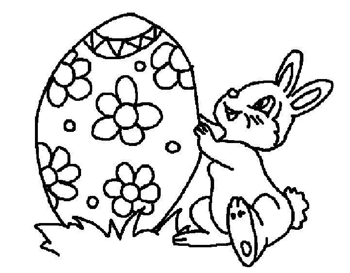 Disegni Per Pasqua Un Coniglio Con Un Uovo Di Pasqua
