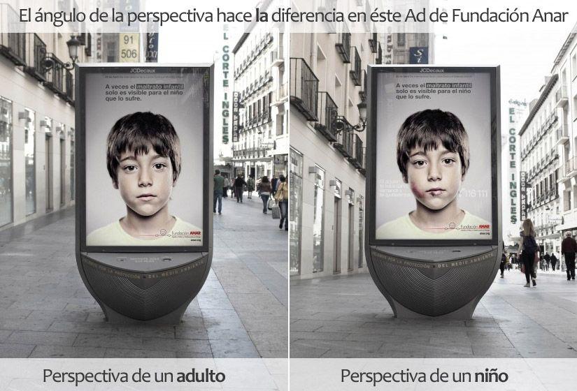 Ángulo-de-perspectiva-en-Ad-de-Fundación-Anar-permite-ver-2-mensajes-Para-adulto-y-para-niño-muhimu