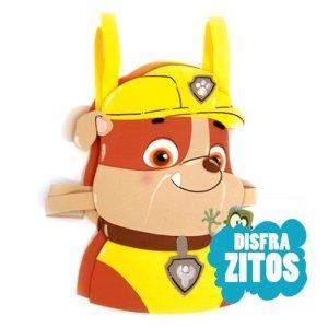 disfraz de goma eva de Rubble de patrulla canina