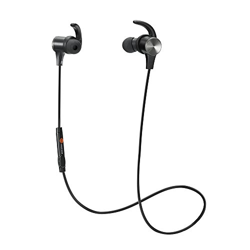 TaoTronics Bluetooth Headphones, Wireless 4.1 Magnetic Earbuds Stereo Earphones, Secure Fit for Sports with Built-in Mic [Upgraded Version]