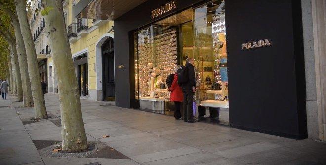 Calle de compras en Madrid