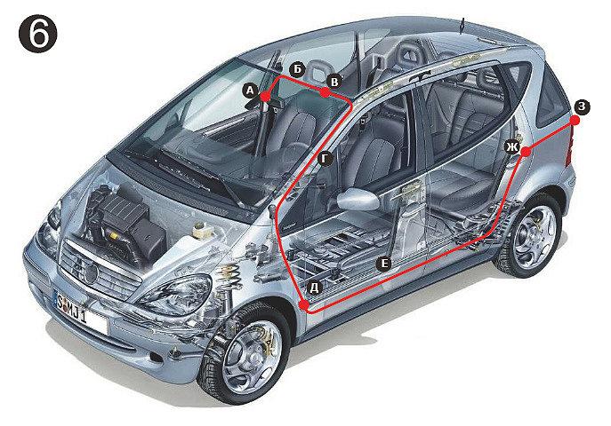 Schéma de câblage détaillé de la caméra de vue arrière.