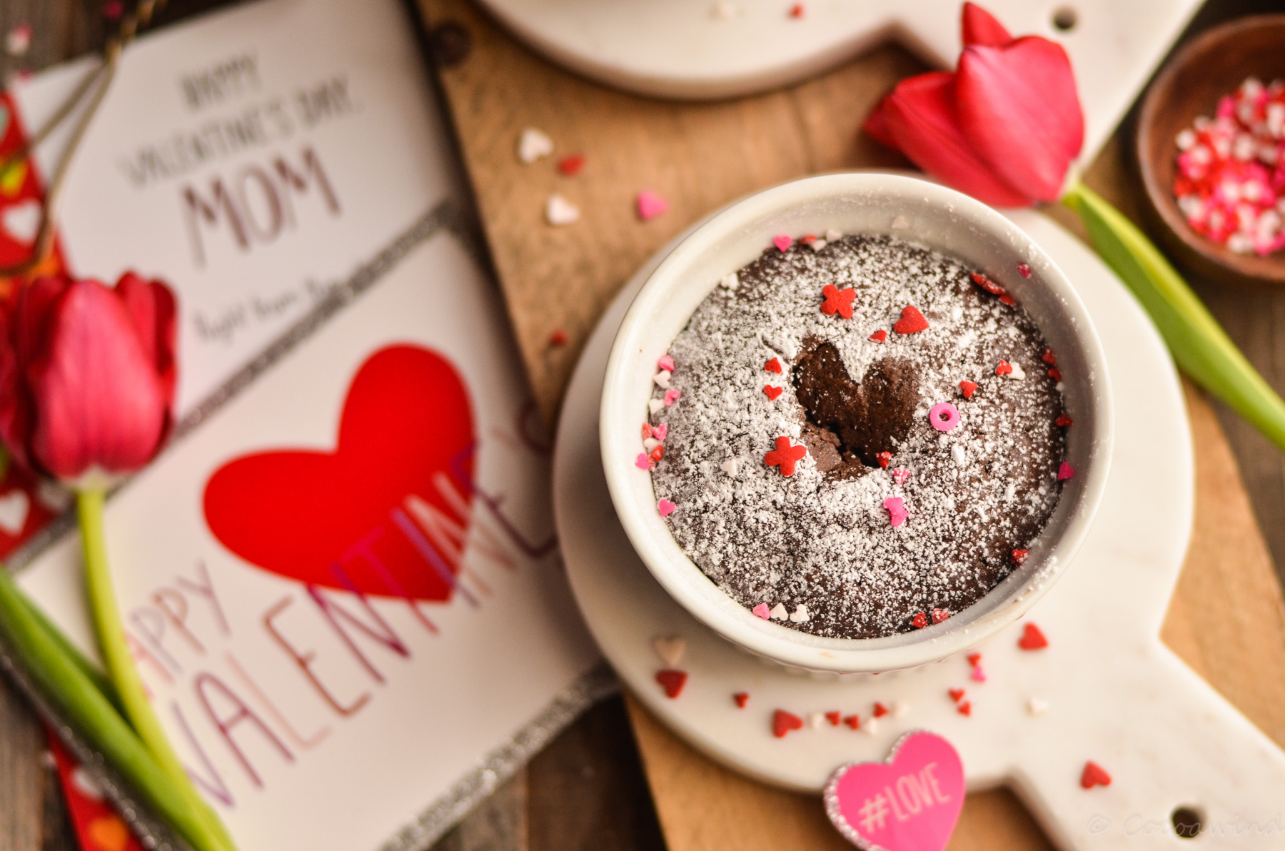Fudgy Brownie for Two (Small Batch Brownie) - perfect Valentine's Day treat