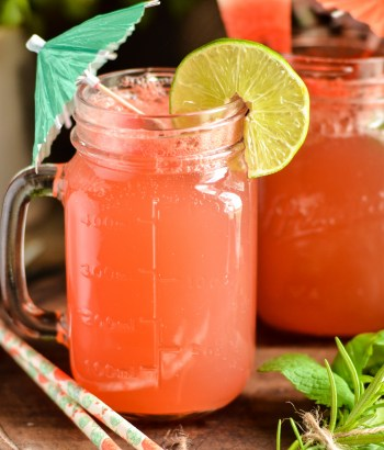 Watermelon Lime Soda - Summer Cooler to beat the heat