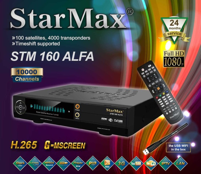 StarMax STM 160 ALFA Full HD Receiver New Software