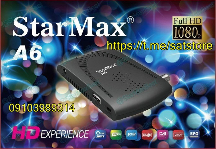 StarMax A6 Mini Full HD Receiver New Software