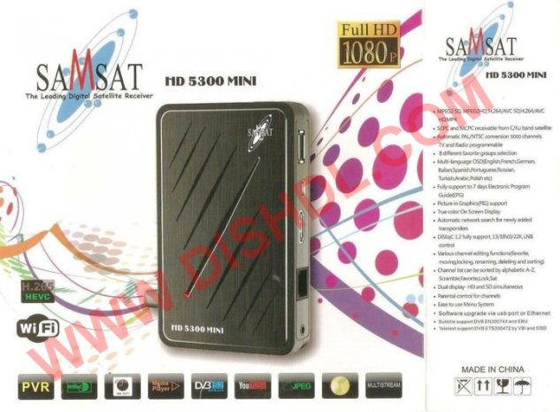 SAMSAT HD 5300 MINI SOFTWARE UPDATE