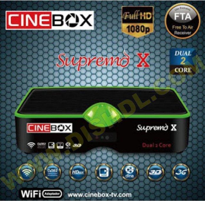 CINEBOX SUPREMO X NEW SOFTWARE UPDATE