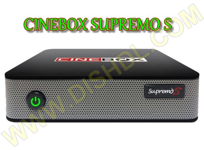 CINEBOX SUPREMO S NEW SOFTWARE UPDATE