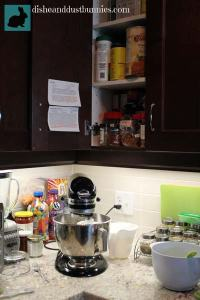 Displaying recipes when dealing with small kitchen space