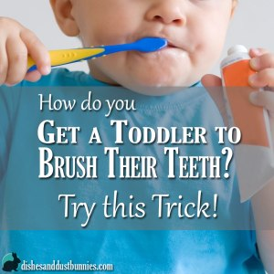How do you get a Toddler to Brush Their Teeth? Try this Trick!