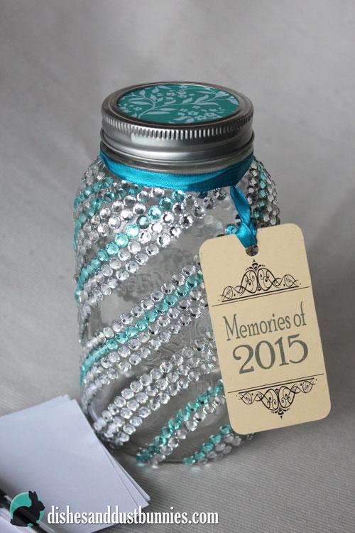 Dollar Store DIY New Year Memory Jar
