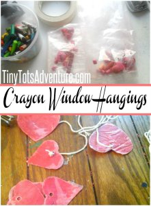 Valentine Crayon Hangings: Crafts for Preschool - Tiny Tot Adventures