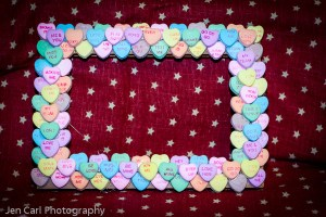 Naptime Crafts: Easy DIY Valentines Crafts – Candy Conversation Heart Frame - Naptime Warrior