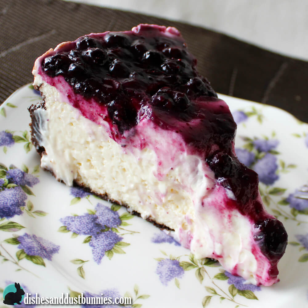 Blueberry Cheesecake from Dishes & Dust Bunnies