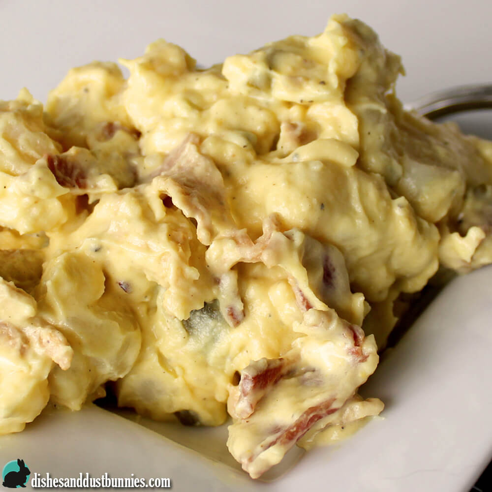 Creamy Potato Salad with Bacon from Dishes & Dust Bunnies