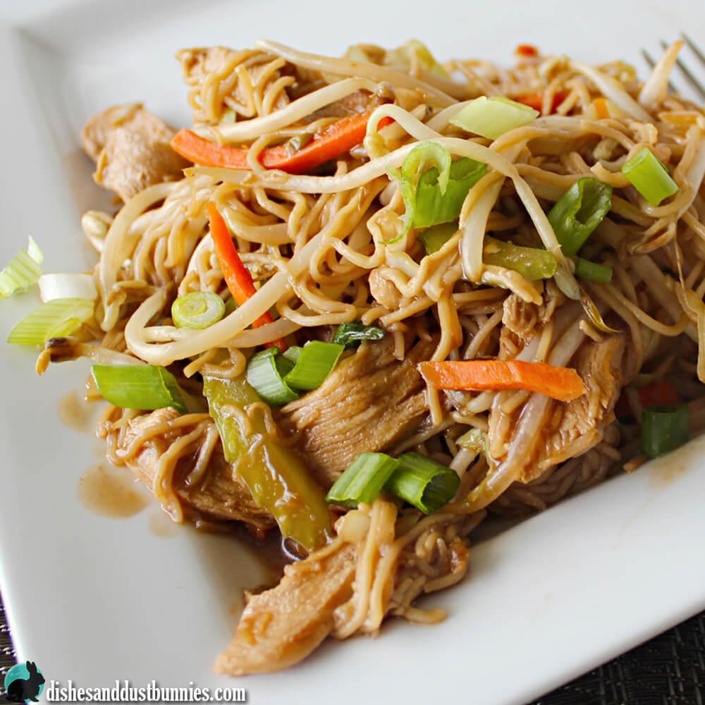 Easy Chicken Chow Mein from dishesanddustbunnies.com