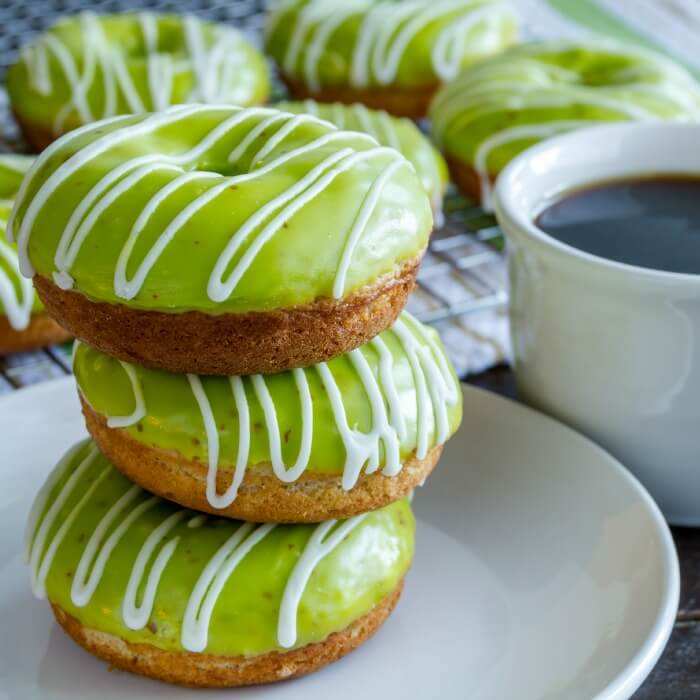 Eggless and Dairy-Free Caramel Apple Doughnuts from Nerdy Mamma