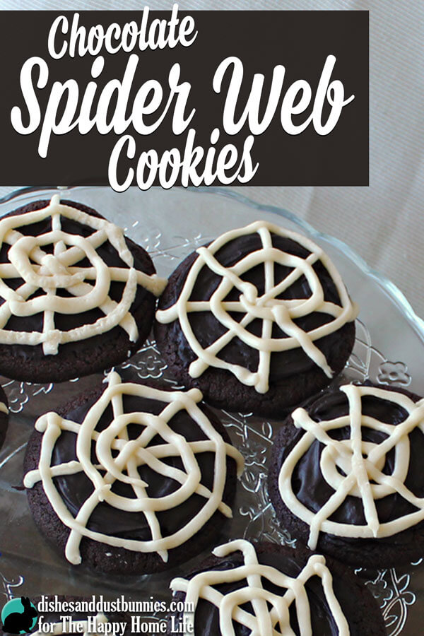 Chocolate Spider Web Cookies from Dishes and Dust Bunnies for The Happy Home Life