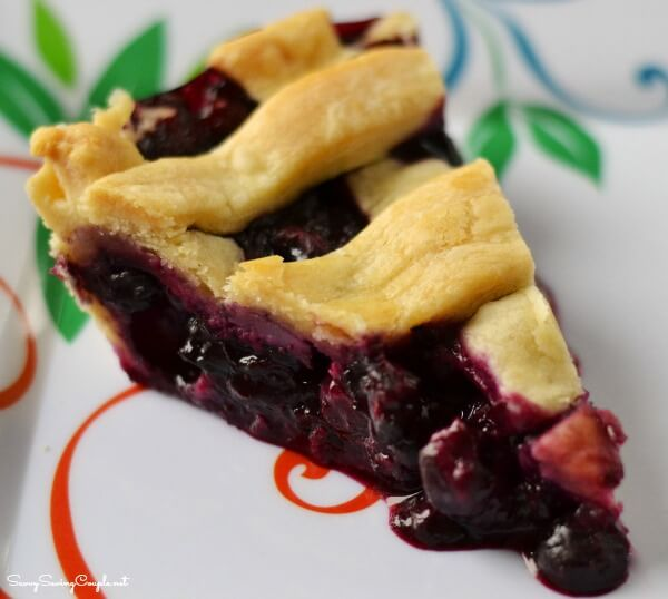 How to Make Homemade Blueberry Pie from Scratch from Savvy Saving Couple
