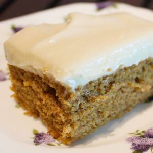 Pumpkin Bars with Cream Cheese Frosting from dishesanddustbunnies.com