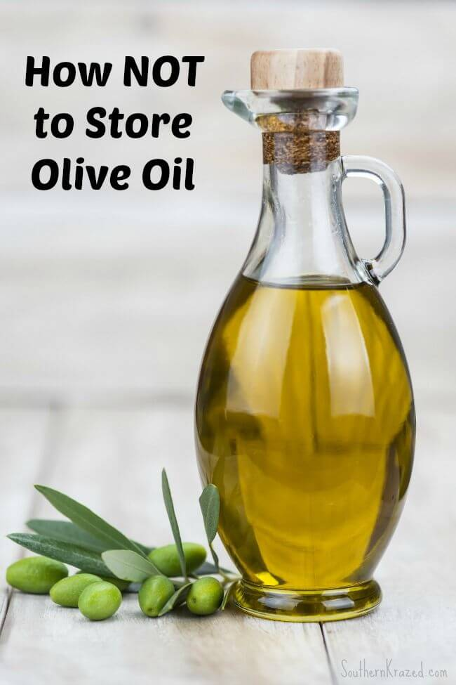 How NOT to Store Olive Oil from Southern Krazed