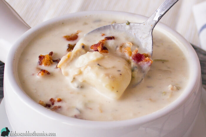 Homemade Clam Chowder from dishesanddustbunnies.com