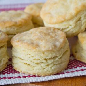 Flaky Buttermilk Biscuit Recipe from dishesanddustbunnies.com