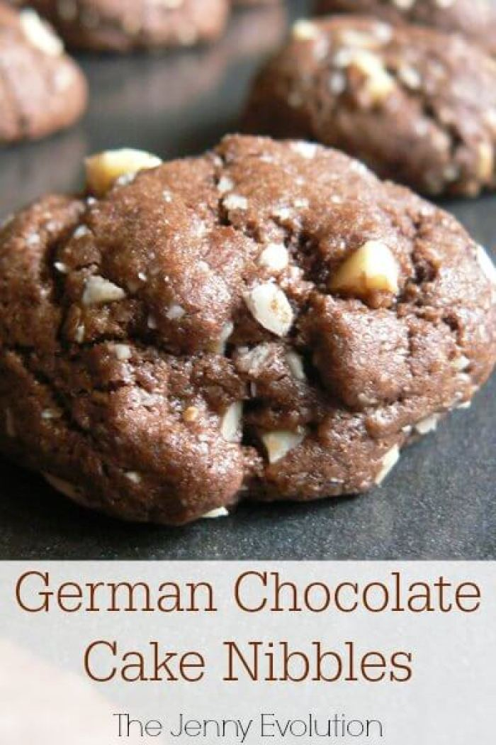 German Chocolate Cake Cookies from The Jenny Evolution