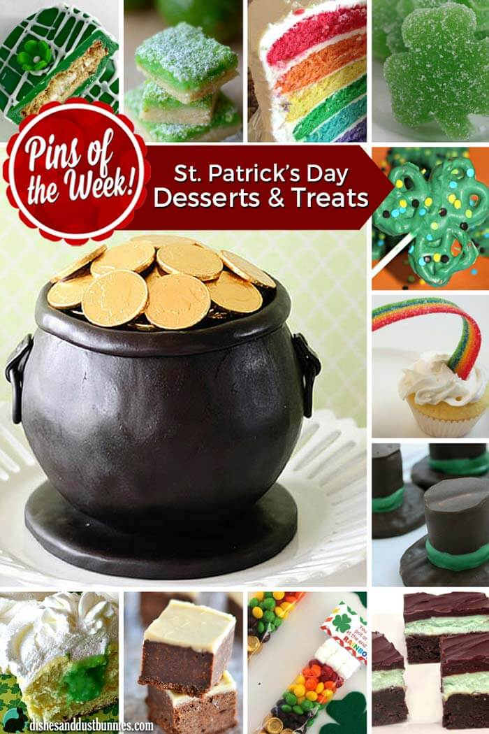 St. Patrick's Day Desserts and Treats - Pins of the Week! from dishesanddustbunnies.com