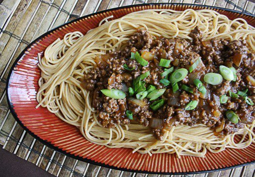 Szechuan Beef Pasta from The Wicked Noodle