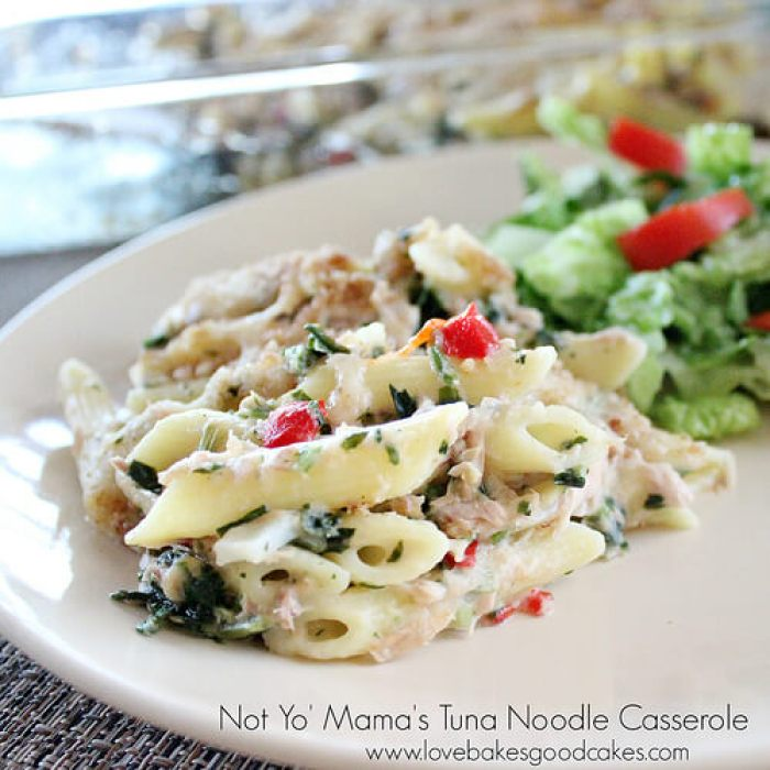 Not Yo' Mama's Tuna Noodle Casserole from Love Bakes Good Cakes