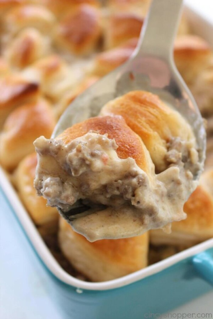 Biscuits and Gravy Casserole from Cincy Shopper