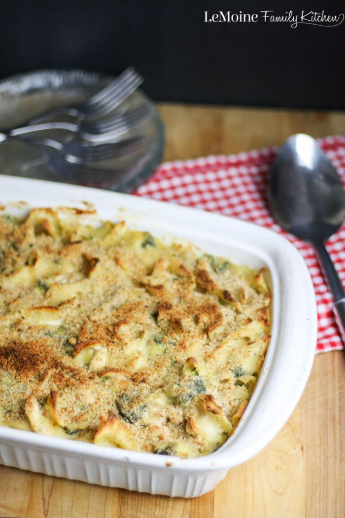 Cheesy Chicken & Broccoli Noodle Bake from LeMoine Family Kitchen